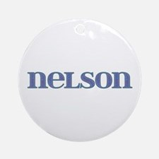 Nelson Blue Glass Round Ornament