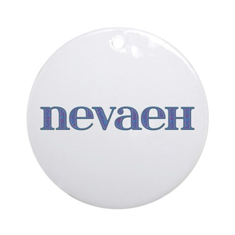 Nevaeh Blue Glass Round Ornament
