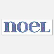 Noel Blue Glass Bumper Bumper Bumper Sticker