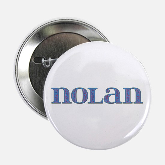 Nolan Blue Glass Button