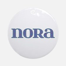 Nora Blue Glass Round Ornament