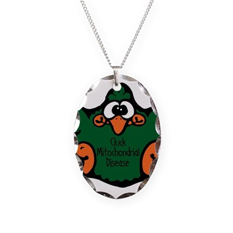 Mitochondrial Disease Necklace Oval Charm