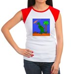 Space Dinosaur Women's Cap Sleeve T-Shirt