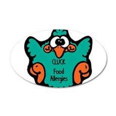 Food Allergies 22x14 Oval Wall Peel
