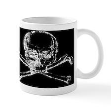 Skull and Bones Distressed Mug