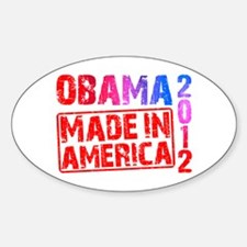 Obama 2012 Made In America Decal