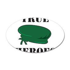 True Heroes Green Beret 38.5 x 24.5 Oval Wall Peel