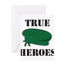 True Heroes Green Beret Greeting Card