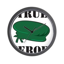 True Heroes Green Beret Wall Clock