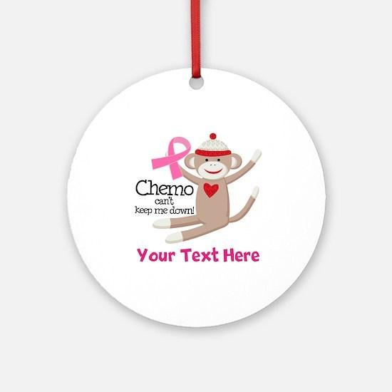 Pink Ribbon Custom Chemo Ornament (Round)