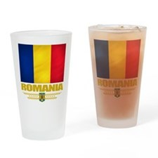 Flag of Romania Drinking Glass