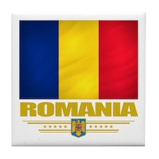 Flag of Romania Tile Coaster