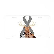 Allergies Aluminum License Plate