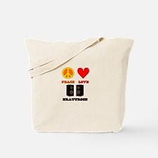 Peace Love Krautrock Tote Bag