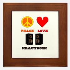 Peace Love Krautrock Framed Tile