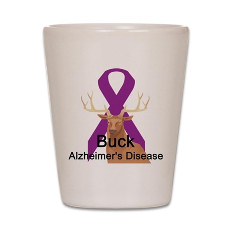 Alzheimer's Disease Shot Glass