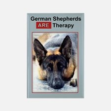 Therapy Dog German Shepherd Magnet