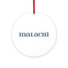 Malachi Blue Glass Round Ornament