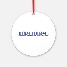 Manuel Blue Glass Round Ornament