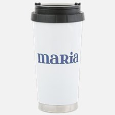 Maria Blue Glass Stainless Steel Travel Mug