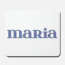 Maria Blue Glass Mousepad