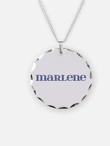 Marlene Blue Glass Necklace