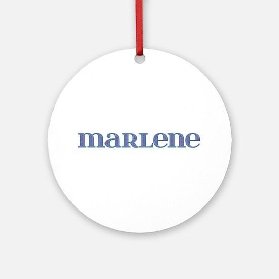 Marlene Blue Glass Round Ornament