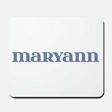 Maryann Blue Glass Mousepad