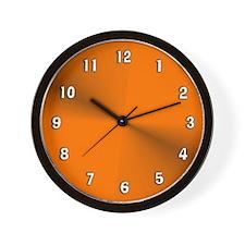 Orange Satin Shimmer Wall Clock