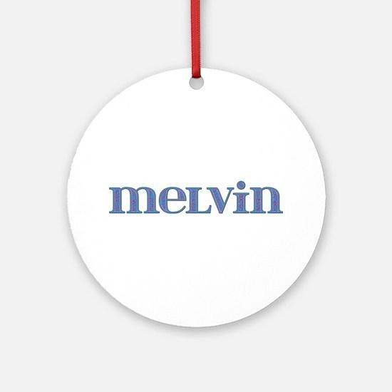 Melvin Blue Glass Round Ornament