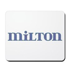 Milton Blue Glass Mousepad