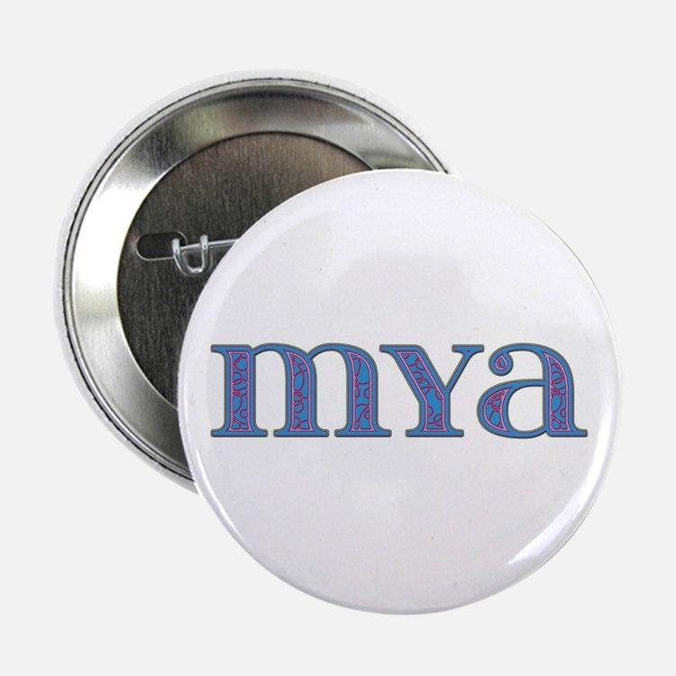 Mya Blue Glass Button