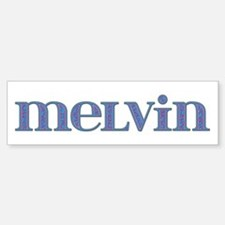 Melvin Blue Glass Bumper Bumper Bumper Sticker