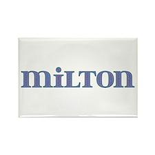 Milton Blue Glass Rectangle Magnet