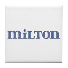 Milton Blue Glass Tile Coaster
