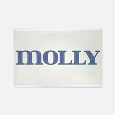 Molly Blue Glass Rectangle Magnet