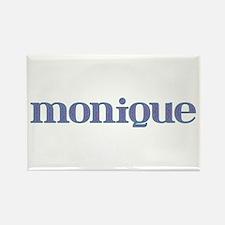 Monique Blue Glass Rectangle Magnet