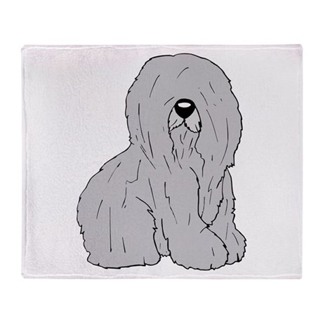 Old English Sheep Dog Throw Blanket