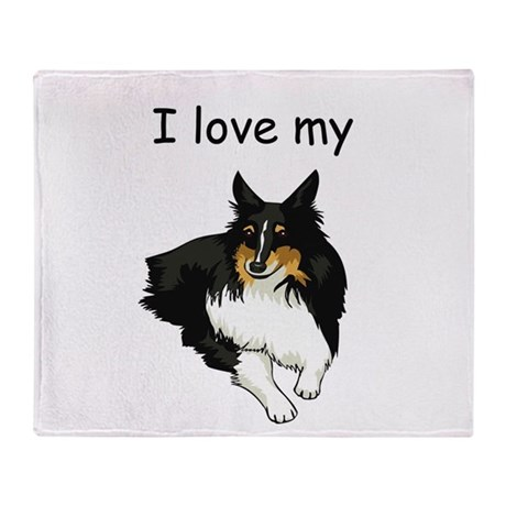 I love my Sheltie Throw Blanket