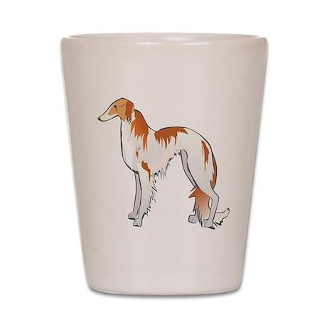 Russian Wolfhound Shot Glass