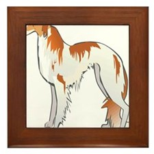 Russian Wolfhound Framed Tile