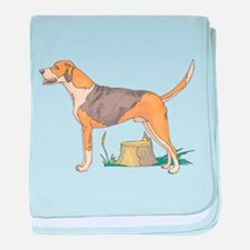 American Foxhound baby blanket