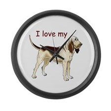 I love my Bloodhound Large Wall Clock
