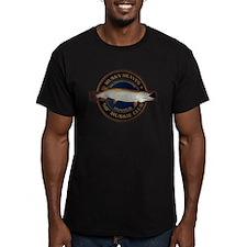 Men's Fitted 50-inch Musky Club T-Shirt (dark)