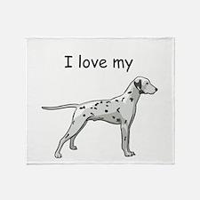 I love my Dalmatian Throw Blanket