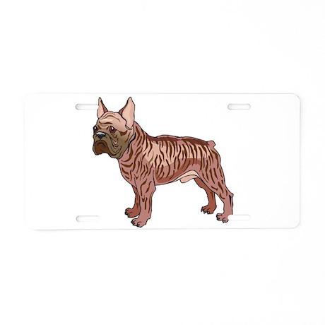 French Bulldog Aluminum License Plate