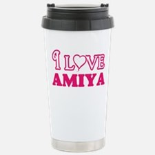 I Love Amiya Travel Mug