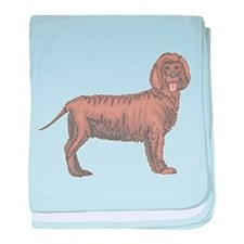 Curly Coated Retriever baby blanket