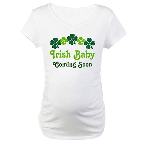 Irish Baby St. Paddy's Day Maternity T-Shirt