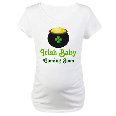 Irish Baby Pot of Gold Maternity T-Shirt
